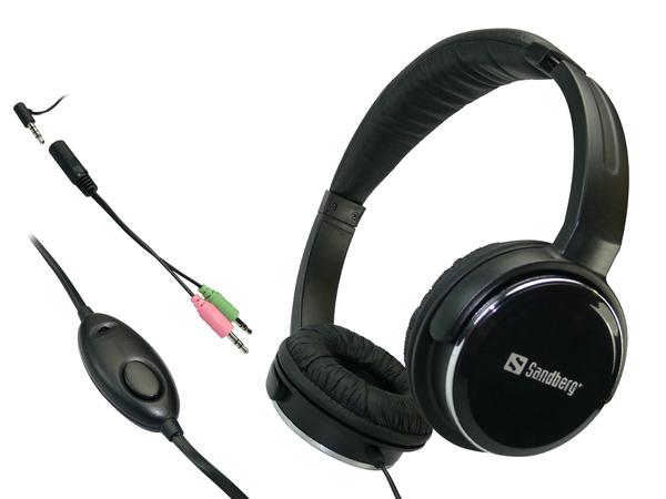 Sandberg Homen Street - Headset - Full-Size - Schwarz