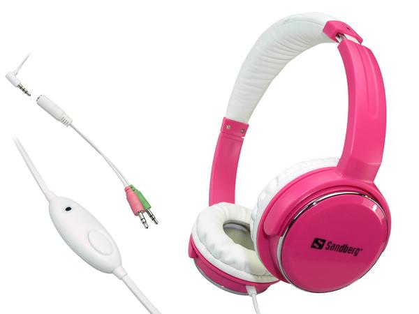 Sandberg Homen Street - Headset - Full-Size - pink