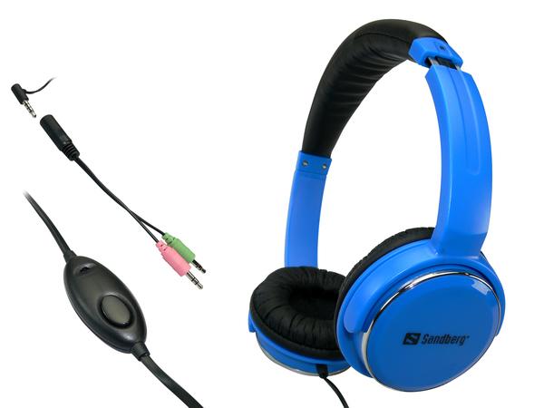 Sandberg Homen Street - Headset - Full-Size - Blau