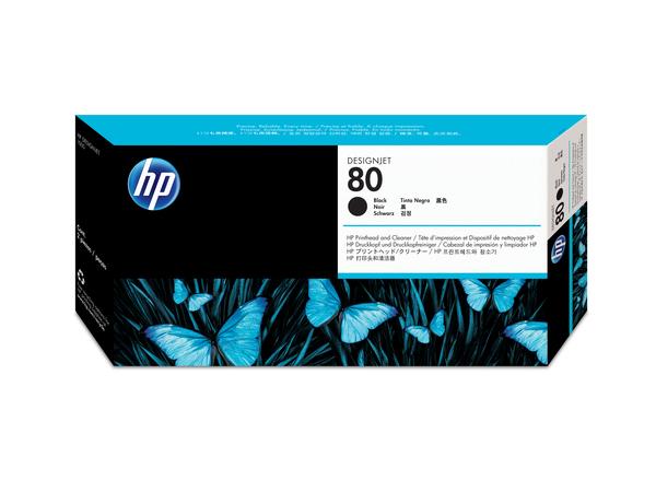 HP 80 - 17 ml - Schwarz - Druckkopf mit Reiniger - für DesignJet 1050c, 1050c plus, 1055cm, 1055cm plus