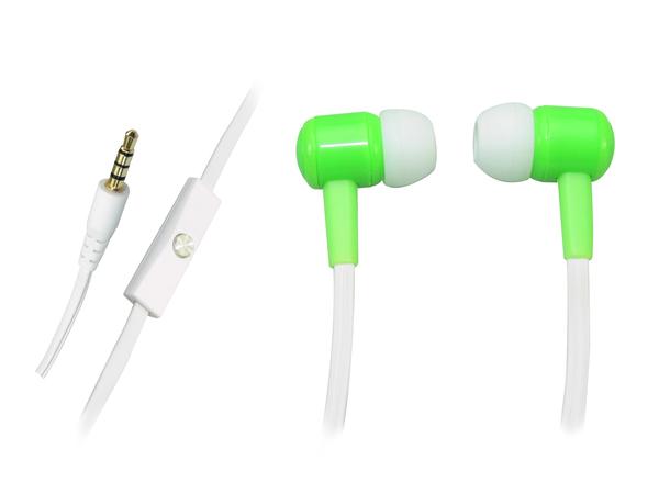 Sandberg Speakn Go In-Earset - Ohrhörer mit Mikrofon - im Ohr - 3,5 mm Stecker - Neongrün