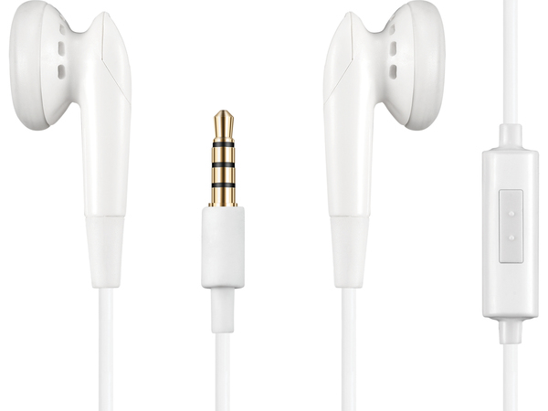 Sandberg Speakn Go Earset - Ohrhörer mit Mikrofon - Ohrstöpsel - 3,5 mm Stecker - weiß