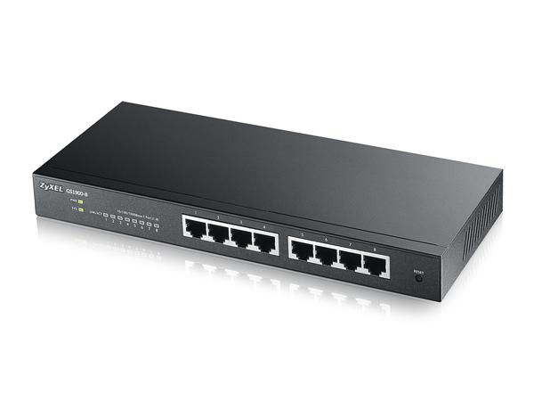 ZyXEL GS1900-8 - Switch - Smart - 8 x 10/100/1000 - Desktop, wandmontierbar
