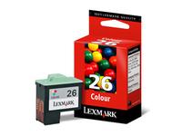 Lexmark Cartridge No. 26 - Gelb, Cyan, Magenta - Original - Tintenpatrone - für i3; X11XX, 12XX, 22XX, 73, 74, 75; Z13, 23, 24, 25, 33, 34, 35, 51X, 60X, 61X, 64X