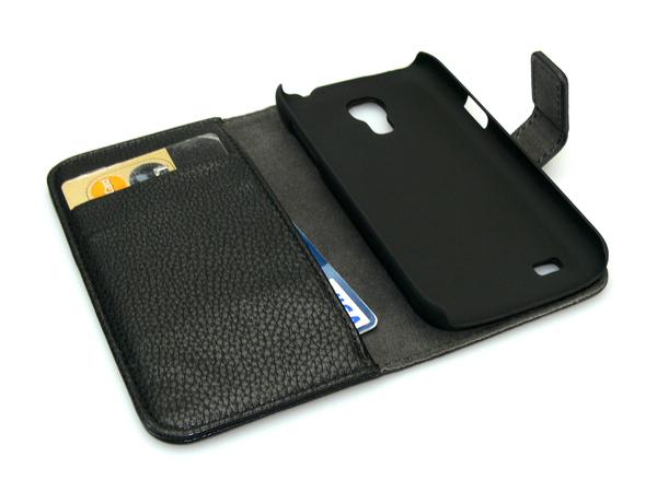 Sandberg Cover Wallet - Schutzabdeckung für Mobiltelefon - Schwarz - für Samsung Galaxy S4 Mini