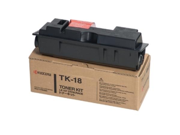 Kyocera TK 18 - Schwarz - Tonersatz - für Kyocera FS-1018, FS-1118, FS-1118F MFP/KL3, FS-1118FDP MFP/KL3; FS-1020