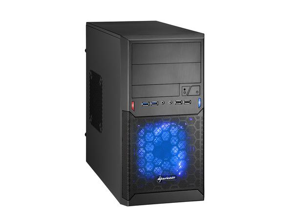 Sharkoon MA-M1000 - Mini Tower - Mikro-ATX - ohne Netzteil - Schwarz - USB/Audio