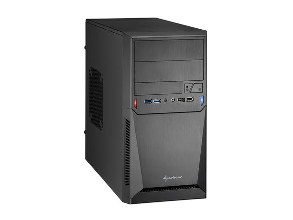 Sharkoon MA-A1000 - Mini Tower - Mikro-ATX - ohne Netzteil - Schwarz - USB/Audio