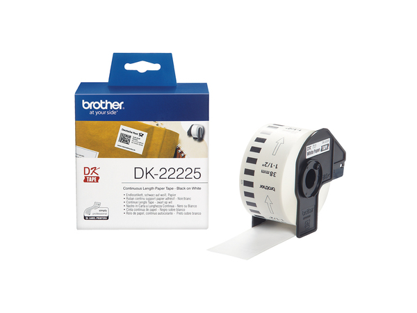 Brother DK-22225 - Papier - Rolle (3,8 cm x 30,5 m) 1 Rolle(n) Endlosetiketten - für Brother QL-1050, QL-1050N, QL-500, QL-500A, QL-500BS, QL-500BW, QL-550, QL-560VP, QL-700