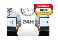 Toshiba On-Site Repair Gold with Hard Drive Retention - Serviceerweiterung - Arbeitszeit und Ersatzteile - 4 Jahre (ab ursprünglichem Kaufdatum des Geräts) - Vor-Ort - 8x5