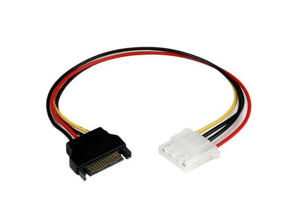 StarTech.com 12in SATA to Molex LP4 Power Cable Adapter - F/M - Netzteil - interne Stromversorgung, 4-polig (W) bis SATA Leistung (M) - 30.48 cm
