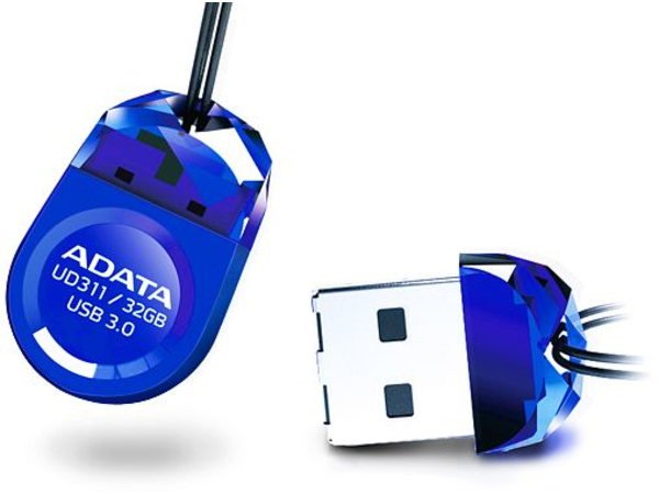 ADATA DashDrive Durable UD311 - USB-Flash-Laufwerk - 32 GB - USB 3.0 - Blau