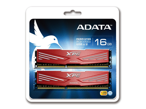 ADATA XPG V1.0 Series - DDR3 - 16 GB: 2 x 8 GB - DIMM 240-PIN - 2133 MHz / PC3-17000 - CL10 - 1.65 V - ungepuffert - nicht-ECC