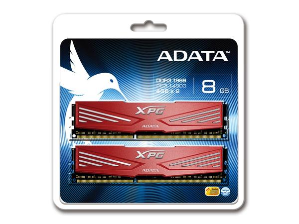 ADATA XPG V1.0 Series - DDR3 - 8 GB: 2 x 4 GB - DIMM 240-PIN - 1866 MHz / PC3-14900 - CL10 - 1.5 V - ungepuffert - nicht-ECC