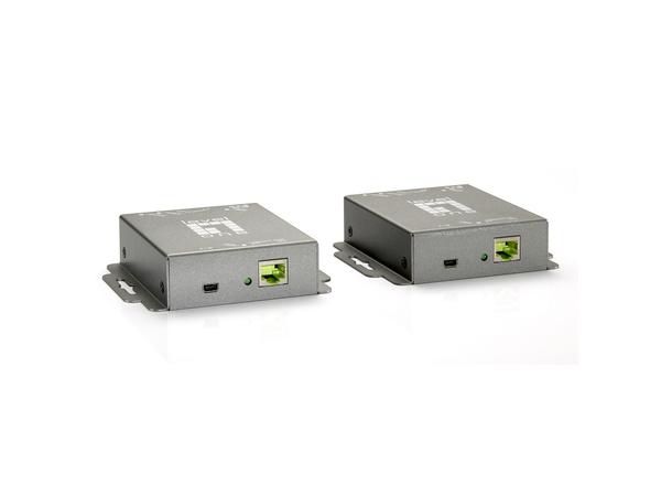 LevelOne HVE-9005 HDMI over Cat.5 Extender kit - Video-/Audio-/Infrarot-Übertrager - HDMI