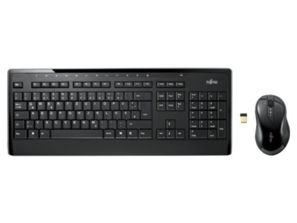 Fujitsu Wireless LX901 - Tastatur-und-Maus-Set - drahtlos - 2.4 GHz - Deutsch - Einzelhandel