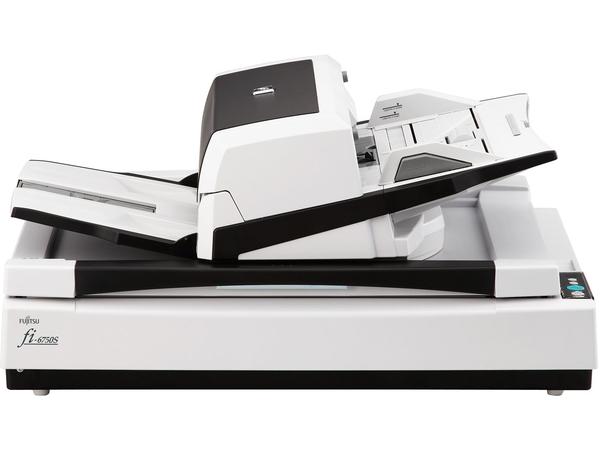Fujitsu fi-6750S - Dokumentenscanner - Ledger - 600 dpi x 600 dpi - bis zu 72 Seiten/Min. (einfarbig) / bis zu 72 Seiten/Min. (Farbe) - automatischer Dokumenteneinzug (200 Blätter)