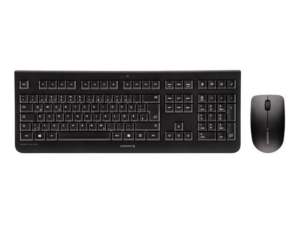 CHERRY DW 3000 - Tastatur-und-Maus-Set - drahtlos - 2.4 GHz - Frankreich - Schwarz