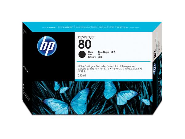 HP 80 - 350 ml - Schwarz - Original - Tintenpatrone - für DesignJet 1050c, 1050c plus, 1055cm, 1055cm plus