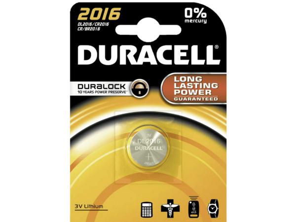 Duracell Duralock 2016 - Batterie CR2016 Li 90 mAh