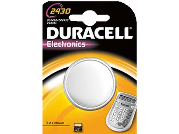 Duracell Duralock 2430 - Batterie CR2430 Li 285 mAh