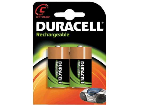 Duracell 055988, Nickel Metall-Hydrid, 2200 mAh, Universal, 1,2 V, C, 26 mm