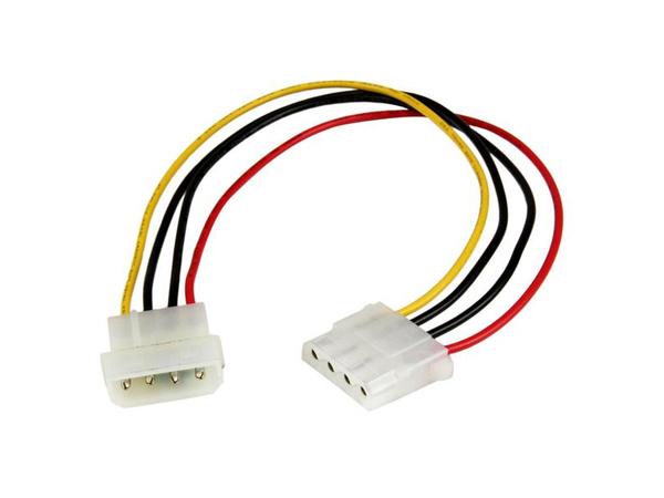 StarTech.com 12in Molex LP4 Power Extension Cable - M/F - Spannungsversorgungs-Verlängerungskabel - interne Stromversorgung, 4-polig (M) bis interne Stromversorgung, 4-polig (W) - 30.48 cm