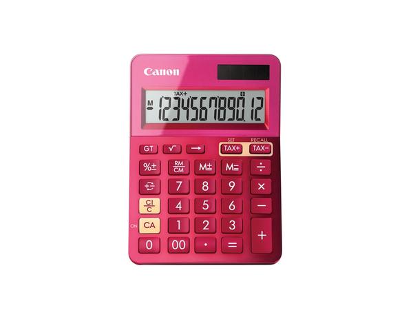 Canon LS-123K - Desktop-Taschenrechner - 12 Stellen - Solarpanel, Batterie - Metallic Pink