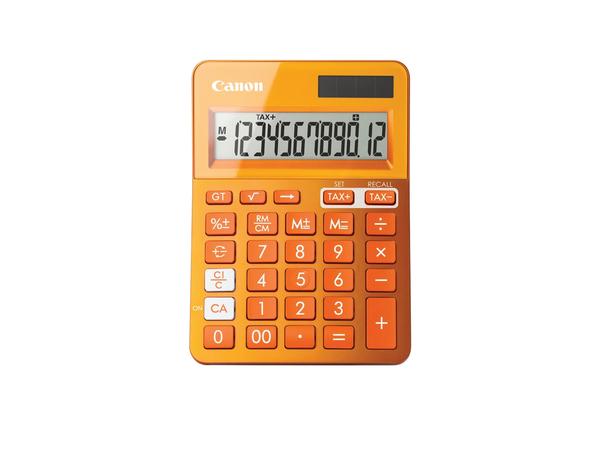 Canon LS-123K - Desktop-Taschenrechner - 12 Stellen - Solarpanel, Batterie - Orange Metallic