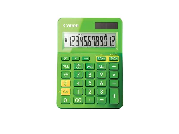 Canon LS-123K - Desktop-Taschenrechner - 12 Stellen - Solarpanel, Batterie - grün-metallic