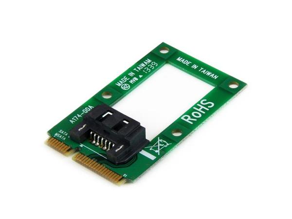 StarTech.com mSATA auf SATA Festplatten / SSD Adapter - Mini SATA zu SATA Konverter - Speicher-Controller - 1 Sender/Kanal - mSATA - 6 GBps