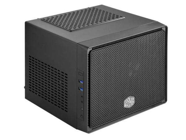 Cooler Master Elite 110 - Ultra Small Form Factor - Mini-ITX (ATX / PS/2) - schwarz - USB/Audio