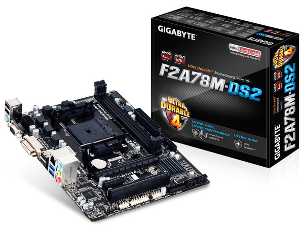 GIGA GA-F2A78M-DS2 FM2+ A78/VGA-DVI/USB3/µATX