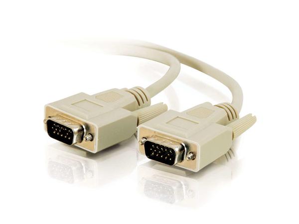 C2G Economy - VGA-Kabel - HD-15 (M) bis HD-15 (M) - 5 m - geformt, Daumenschrauben