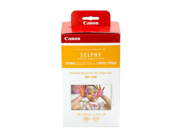 Canon RP-108 - 1 - Farbbandkassetten- und Papier-Kit - für SELPHY CP1000, CP1200, CP910