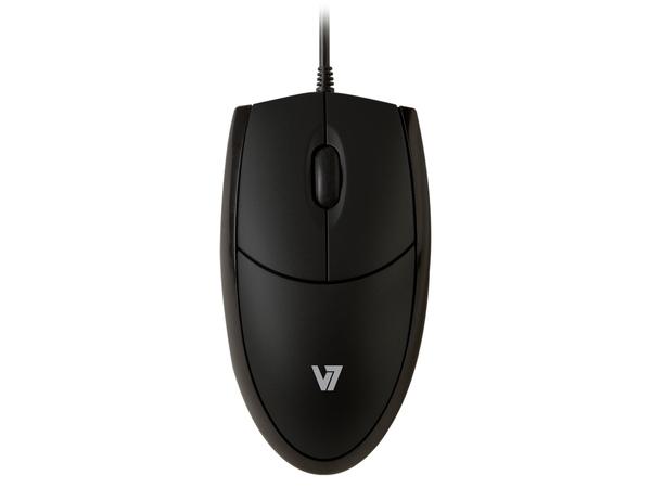 V7 MV3000 - Maus - optisch - 3 Tasten - verkabelt - USB