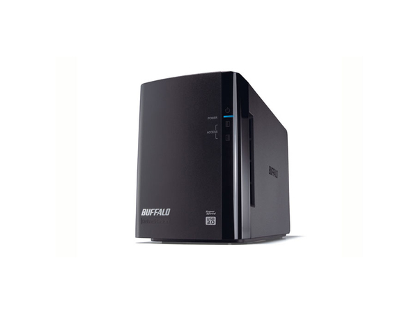 BUFFALO DriveStation Duo USB 3.0 - Festplatten-Array - 6 TB - 2 Schächte (SATA-300) - HDD 3 TB x 2 - USB 3.0 (extern)