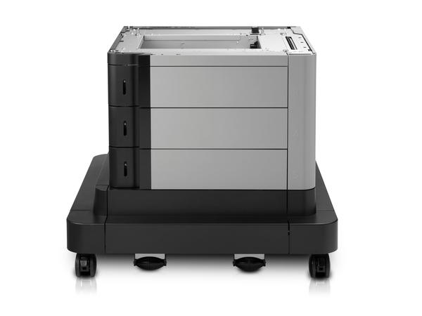 HP Paper Feeder and Stand - Druckerbasis mit Medienzuführung - 2500 Blätter in 3 Schubladen (Trays) - für LaserJet Enterprise MFP M680; LaserJet Enterprise Flow MFP M680; LaserJet Managed MFP