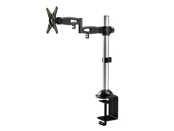 V7 - Befestigungskit (Spannbefestigung für Tisch, Stange, voll beweglicher Arm) für LCD-Display - Schwarz - Bildschirmgröße: 25.4-61 cm (10