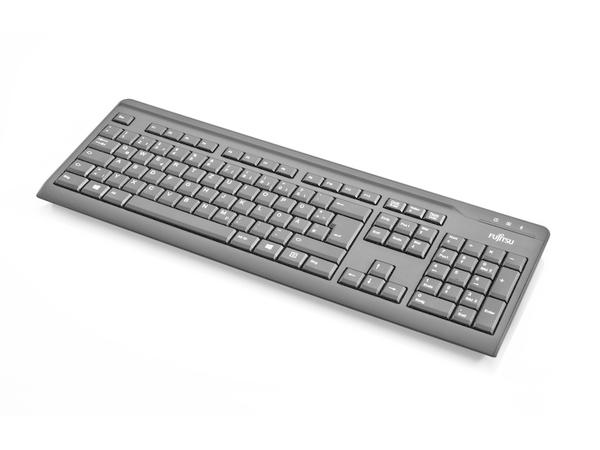 Fujitsu KB410 - Tastatur - USB - Arabisch / Englisch - Schwarz - OEM