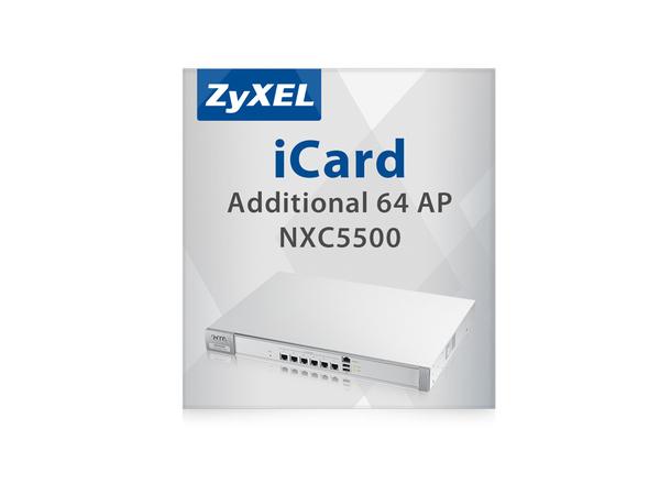 Zyxel E-iCard - Lizenz (Upgrade-Lizenz) - 64 Zugangspunkte - für Zyxel NXC5500