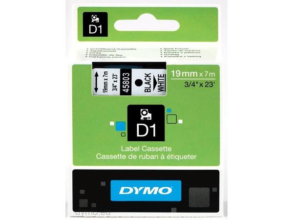 DYMO D1 - Tape - glossy - Schwarz auf Weiß - Rolle (1,9 cm x 7 m) 1 Rolle(n)