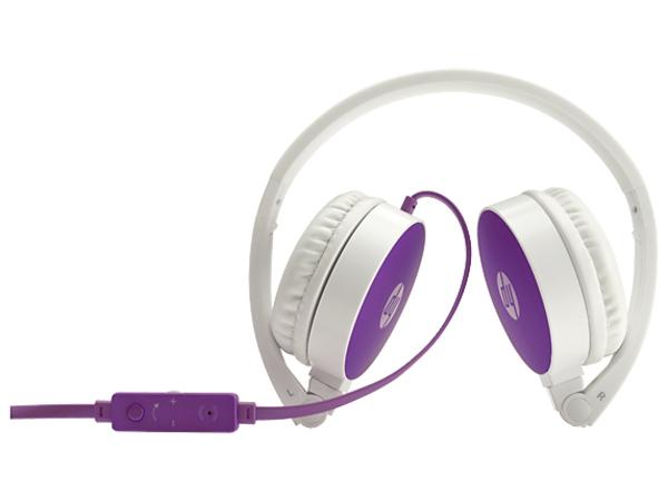 HP H2800 - Kopfhörer mit Mikrofon - Full-Size - 3,5 mm Stecker - Violett - für ENVY x360; Pavilion; Pavilion Gaming; Pavilion x360; Spectre x360; Stream; x360