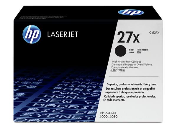 HP 27X - Hohe Ergiebigkeit - Schwarz - Original - LaserJet - Tonerpatrone (C4127X)