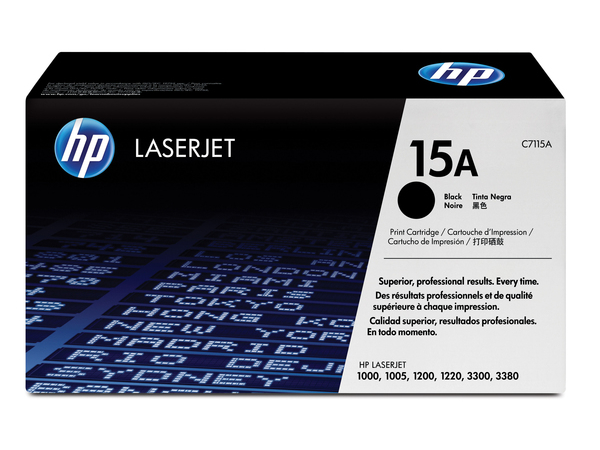 HP 15A - Schwarz - Original - LaserJet - Tonerpatrone (C7115A) - für LaserJet 1000, 1005, 1200, 1220, 3300, 3310, 3320, 3330, 3380