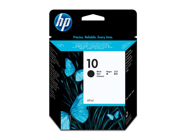 HP 10 - 69 ml - Schwarz - Original - Tintenpatrone - für Business Inkjet 1000, 1200, 2300, 2800; DesignJet 110, 500, 70, 820; Officejet Pro K850