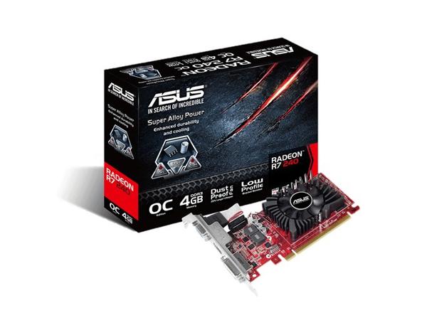ASUS R7240-OC-4GD3-L - Grafikkarten - Radeon R7 240 - 4 GB DDR3 - PCIe 3.0 x16 Low Profile - DVI, D-Sub, HDMI