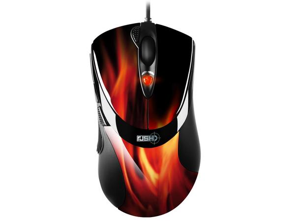 Sharkoon FireGlider - Maus - Laser - 7 Tasten - verkabelt - USB