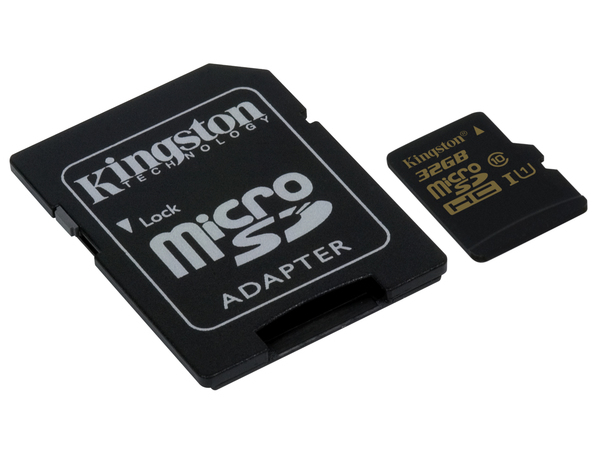 Kingston - Flash-Speicherkarte (microSDHC/SD-Adapter inbegriffen) - 32 GB - UHS Class 1 / Class10 - microSDHC UHS-I