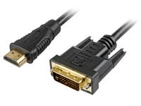 Sharkoon 2m, HDMI/DVI-D, HDMI, DVI-D, Männlich, Männlich, Schwarz, 1920 x 1080 Pixel